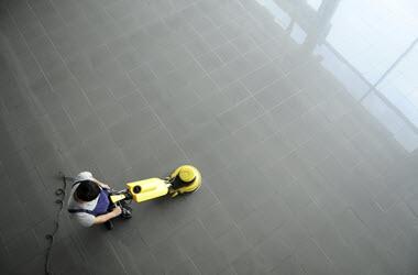 Floor Strip Wax Buff - Paul's Building Maintenance